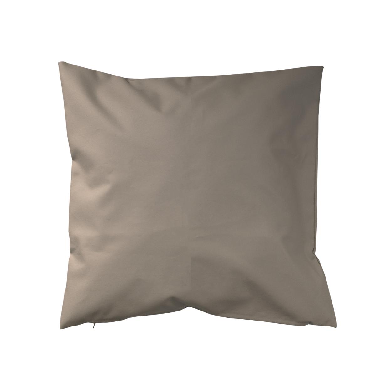 Housse de coussin d'extérieur en tissu outdoor - Taupe - 45 x 45cm