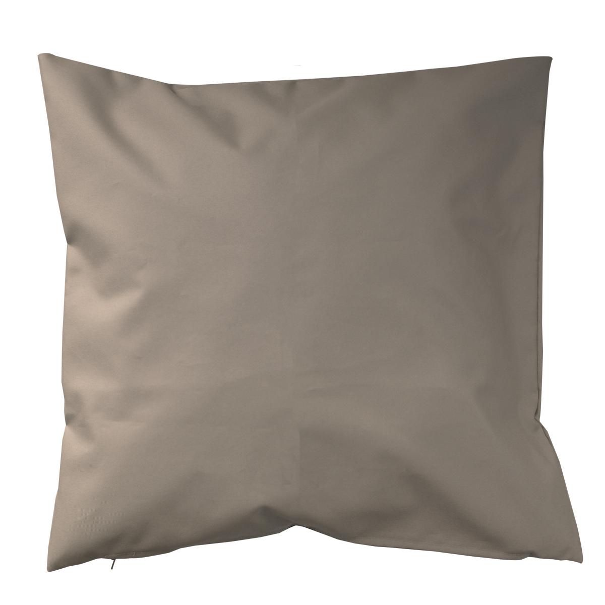 Housse de coussin d'extérieur en tissu outdoor - Taupe - 60 x 60cm