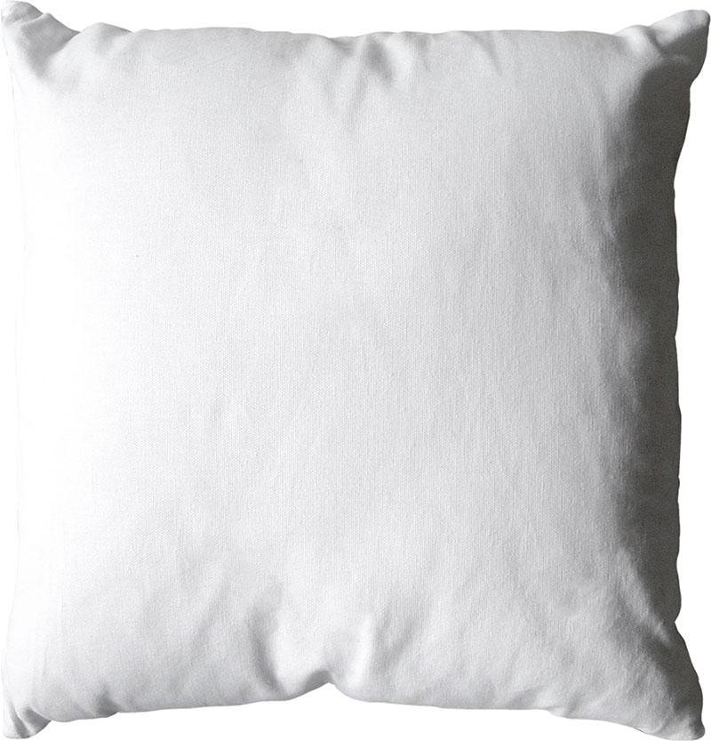 Coussin déhoussable uni en coton   (Blanc)