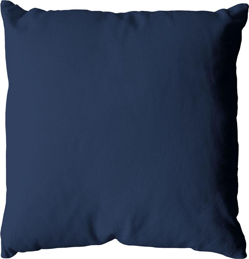 Coussin déhoussable uni en coton   (Bleu Marine)