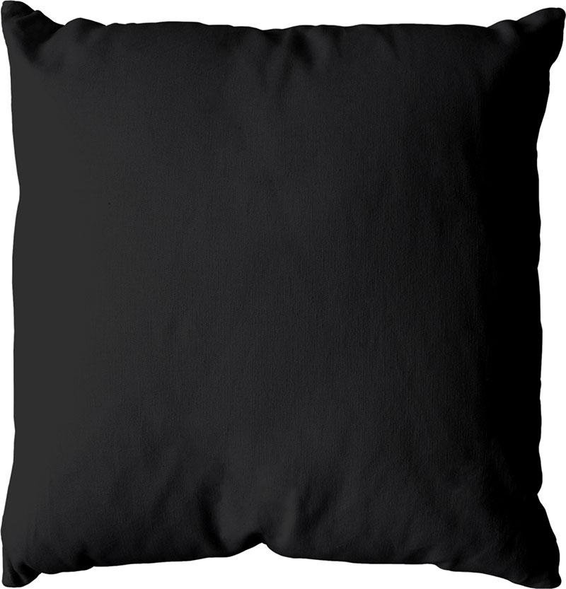 Coussin déhoussable uni en coton   (Noir)