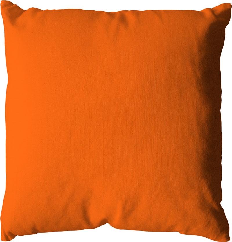 Coussin déhoussable uni en coton   (Orange)