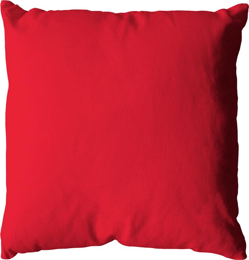 Coussin déhoussable uni en coton   (Rouge)