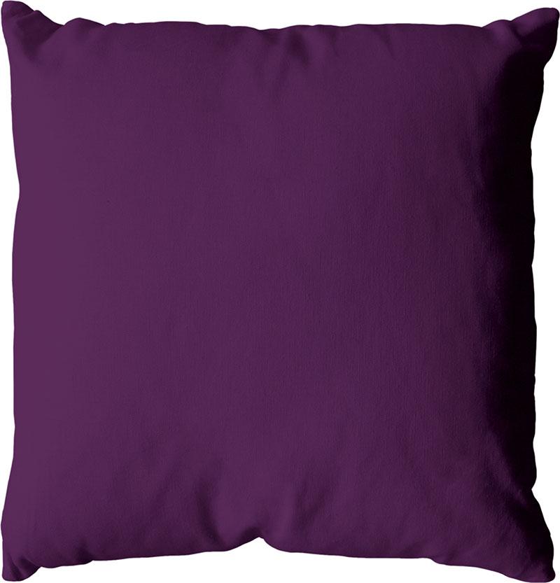 Coussin déhoussable uni en coton   (Violet)