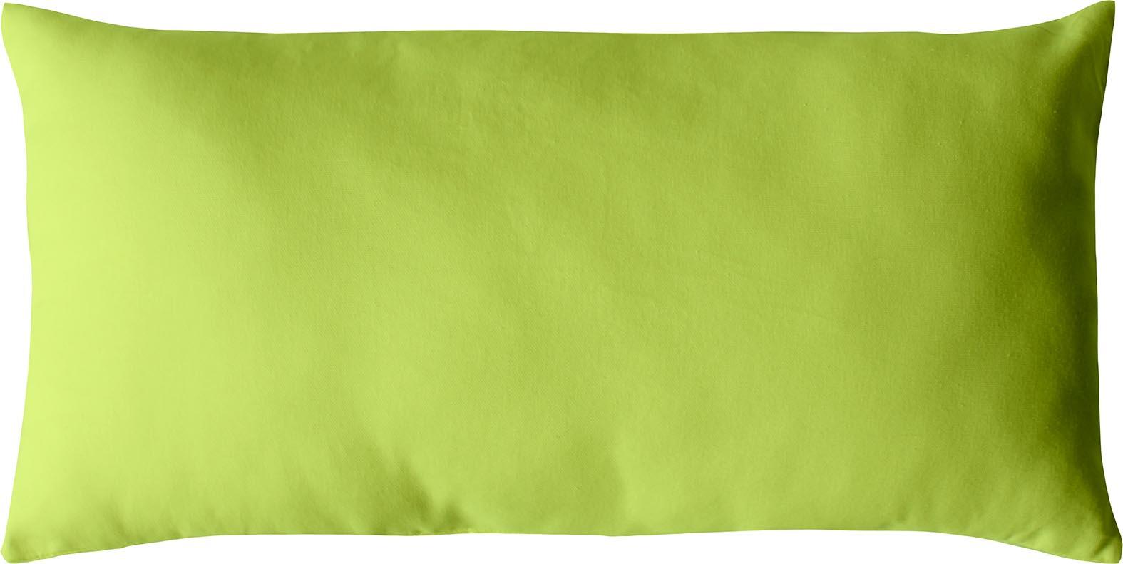 Coussin non déhoussable en coton uni  (Anis)