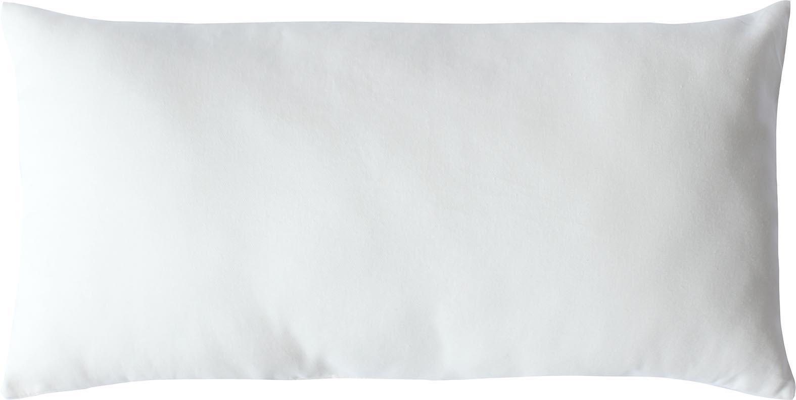 Coussin non déhoussable en coton uni  (Blanc)