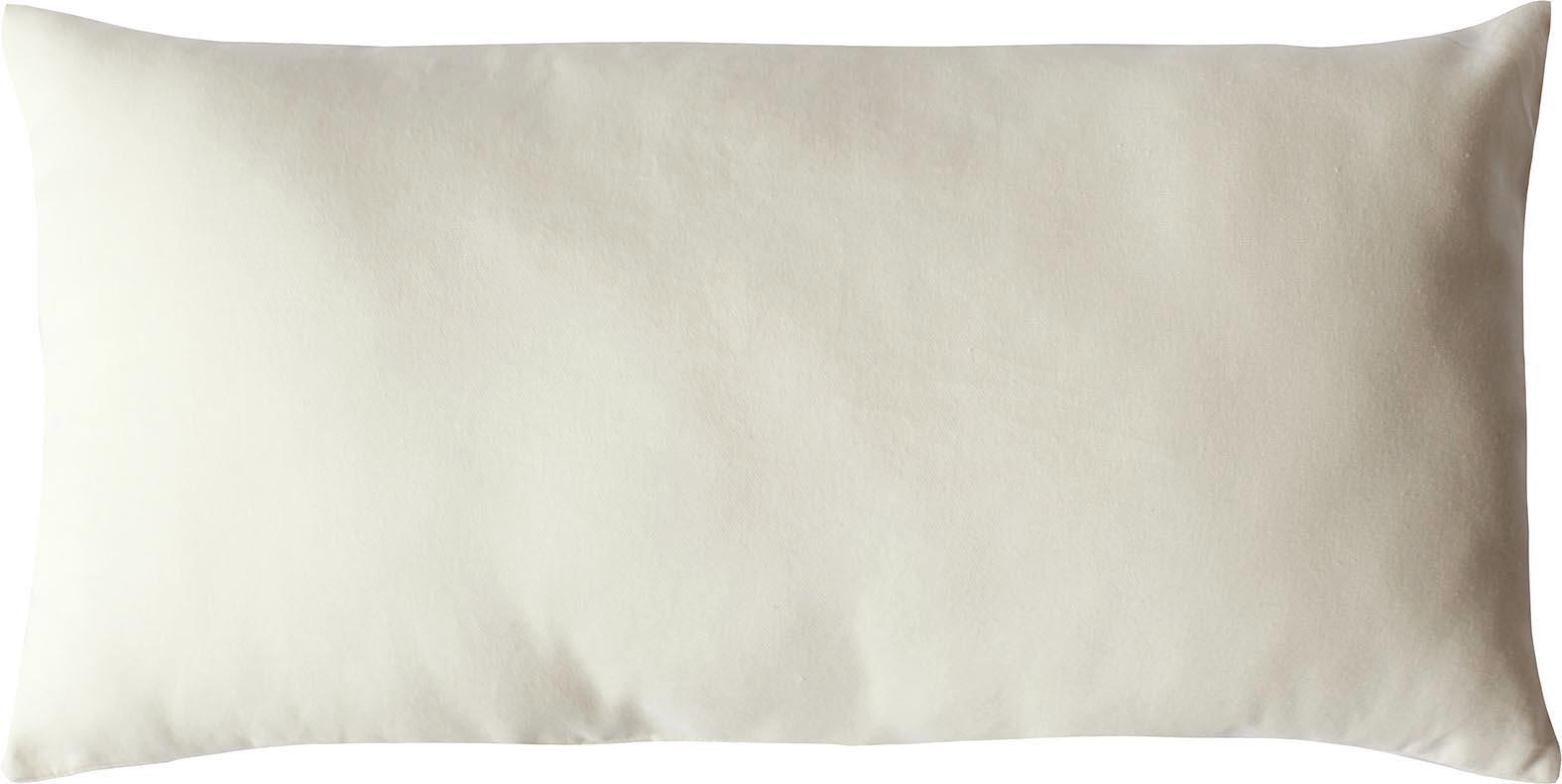 Coussin non déhoussable en coton uni  (Ecru)