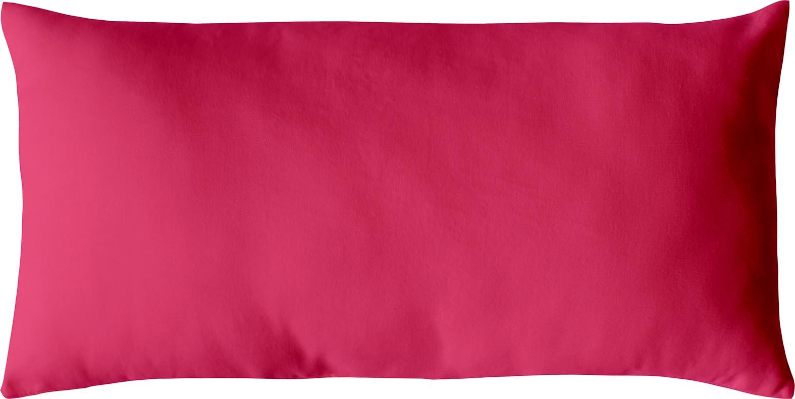 Coussin non déhoussable en coton uni  (Fuchsia)