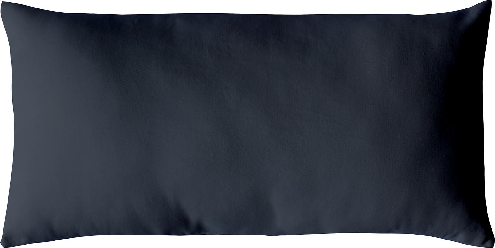 Coussin non déhoussable en coton uni  (Gris Foncé)