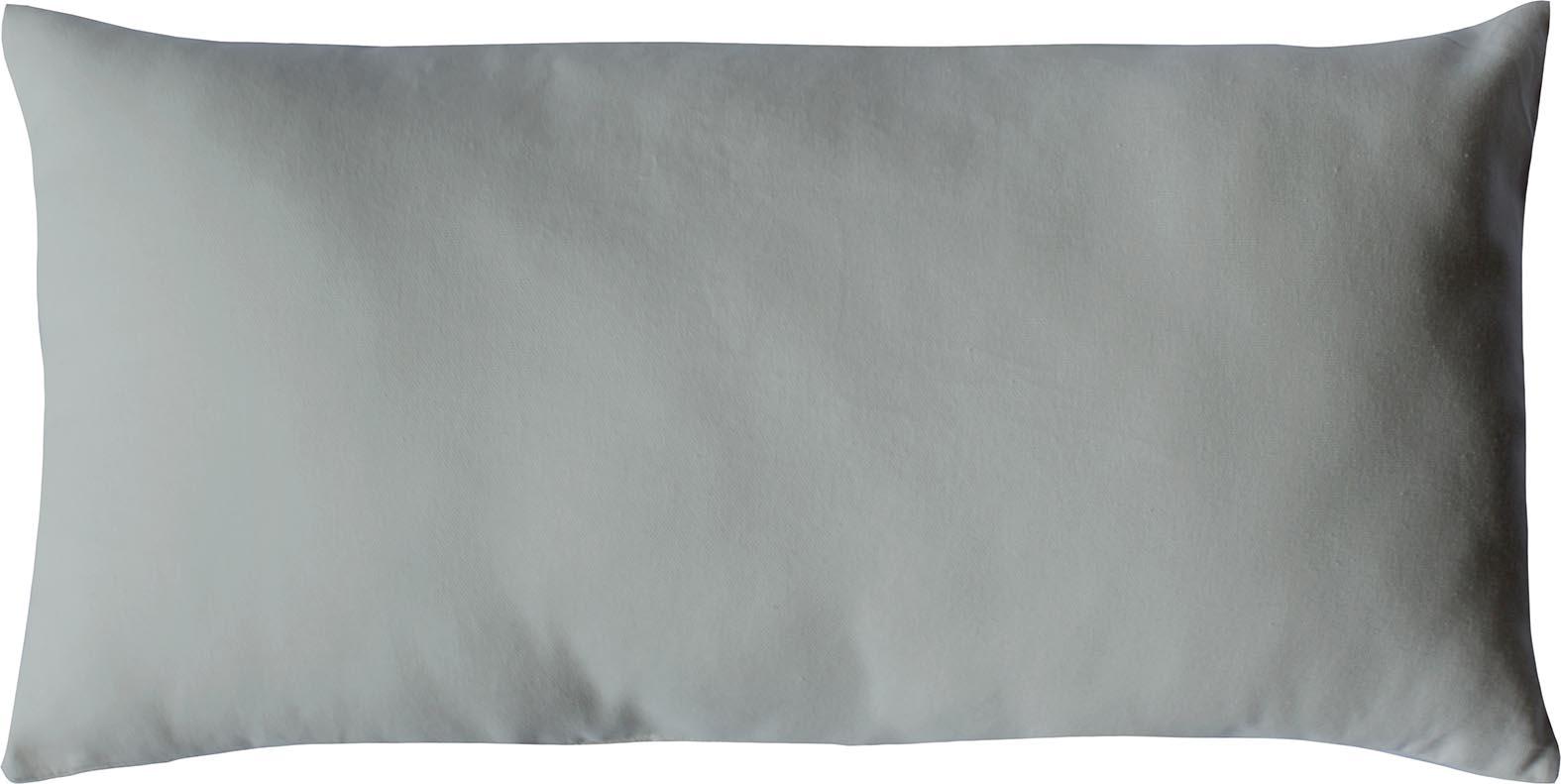 Coussin non déhoussable en coton uni  (Gris clair)