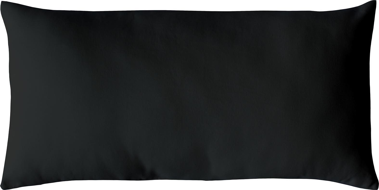 Coussin non déhoussable en coton uni  (Noir)
