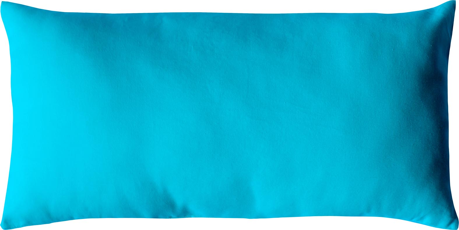 Coussin non déhoussable en coton uni  (Turquoise)