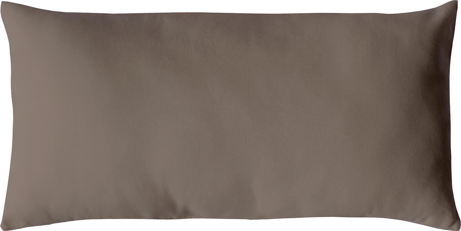Coussin non déhoussable en coton uni  (VISON)
