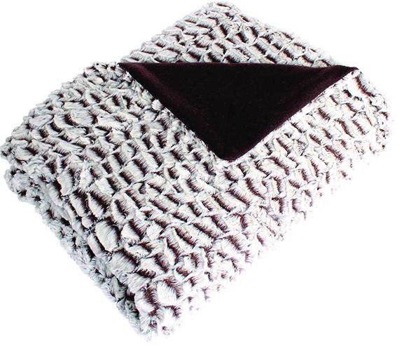 plaid en fausse fourrure design fa on ecailles blanc choco blanc noir blanc gris. Black Bedroom Furniture Sets. Home Design Ideas