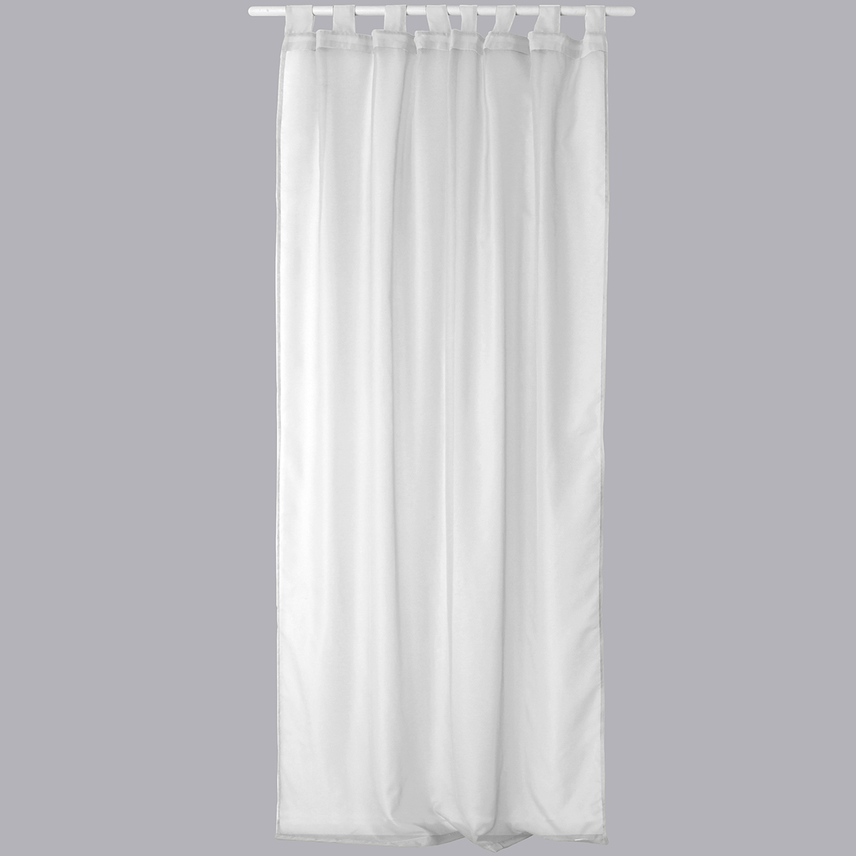 Voilage Uni en Polyester 8 pattes  (Blanc)