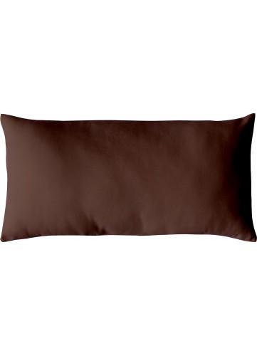 Coussins Non Déhoussables en Coton Uni - Chocolat - 30 x 60 cm