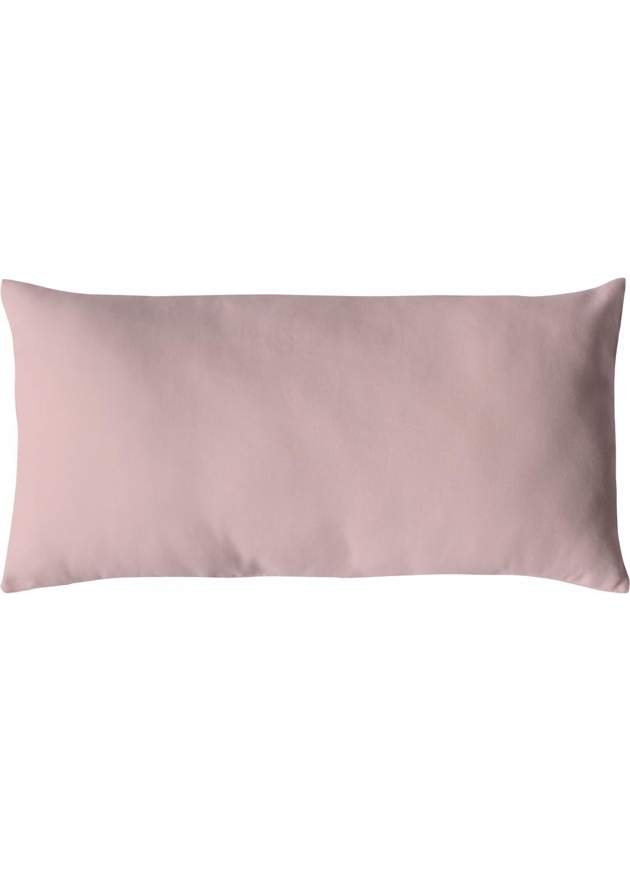 Coussin non déhoussable en coton uni  (Vieux rose)