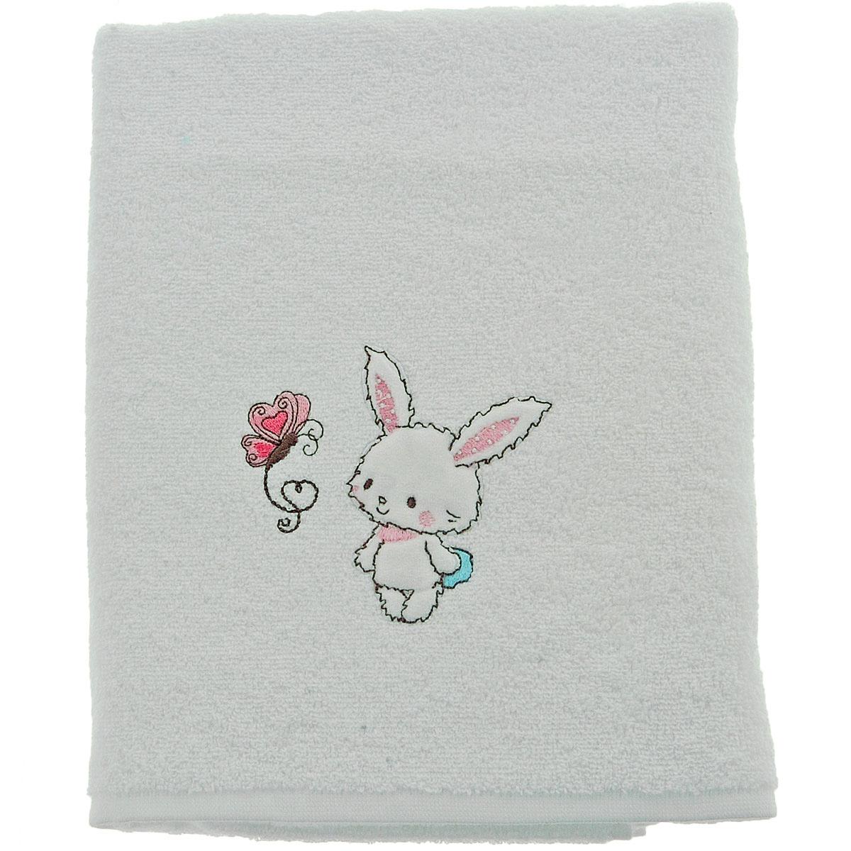 drap douche 70x130cm brod baby rabbit blanc homebain vente en ligne draps de douche. Black Bedroom Furniture Sets. Home Design Ideas
