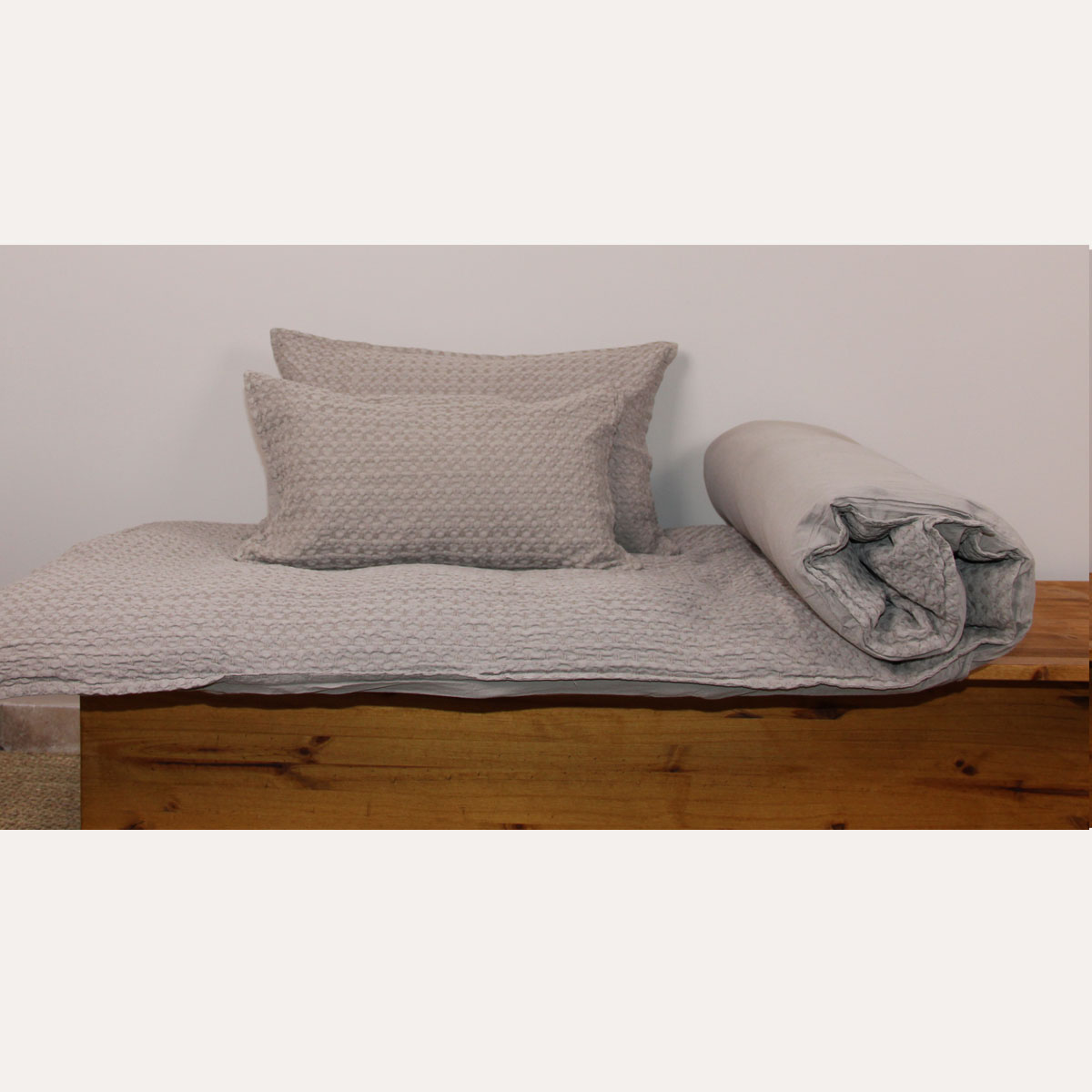 Housse d'édredon unie et colorée - Taupe - 80 x 200 cm