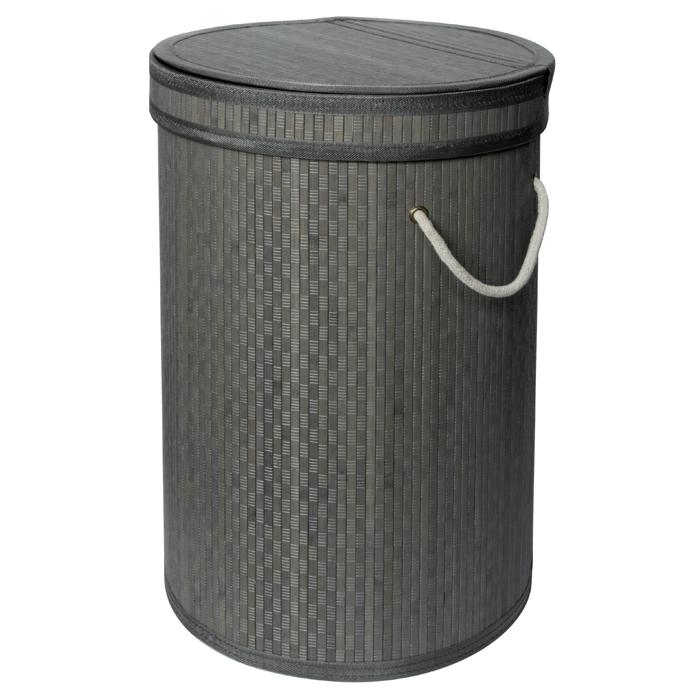 panier a linge bambou gris homebain vente en ligne. Black Bedroom Furniture Sets. Home Design Ideas