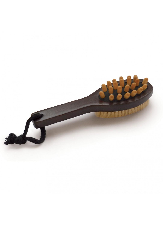 Brosse de massage en bois brun homebain vente en - Accessoires salle de bain bois ...