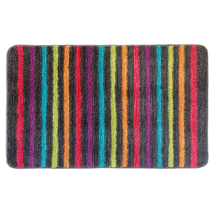 tapis rayures multicouleurs homebain vente en ligne tapis de bain. Black Bedroom Furniture Sets. Home Design Ideas