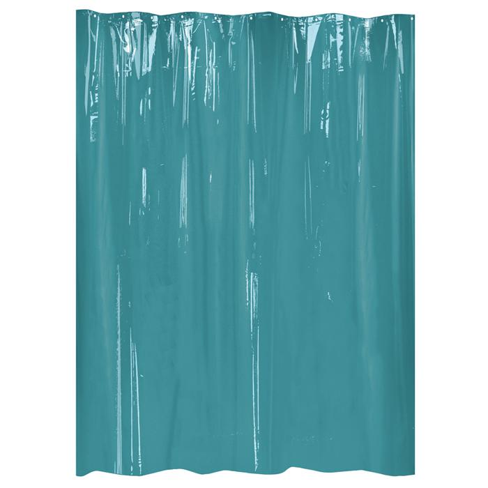 Rideau de douche mod le kira turquoise homebain vente en ligne rideaux de douche - Dimension rideau de douche ...