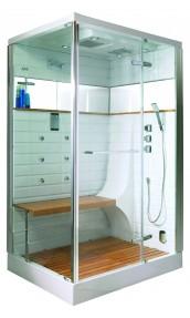 Cabine de douche Hammam avec porte pivotante