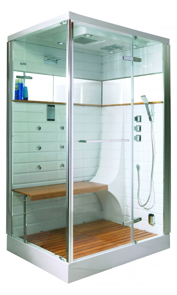 cabine de douche hammam avec porte pivotante chrom homebain vente en ligne cabines de douche. Black Bedroom Furniture Sets. Home Design Ideas
