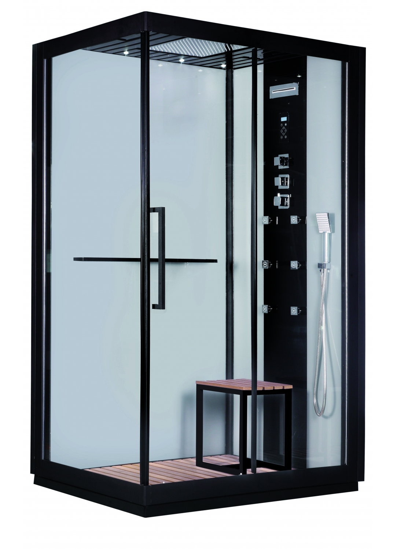 cabine int grale black style loft noir homebain vente en ligne cabines de douche. Black Bedroom Furniture Sets. Home Design Ideas