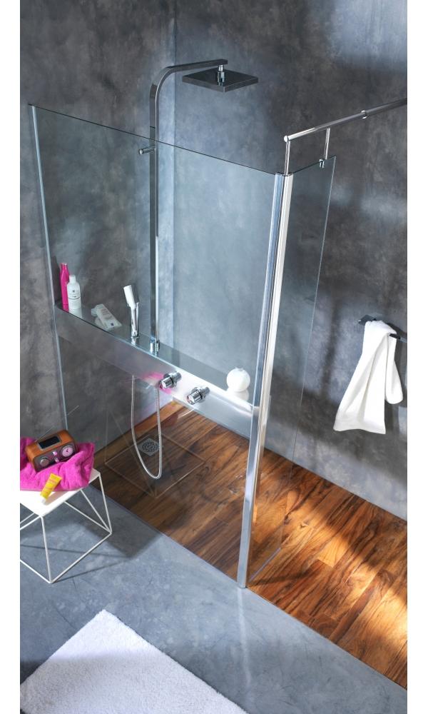 Paroi de douche + colonne