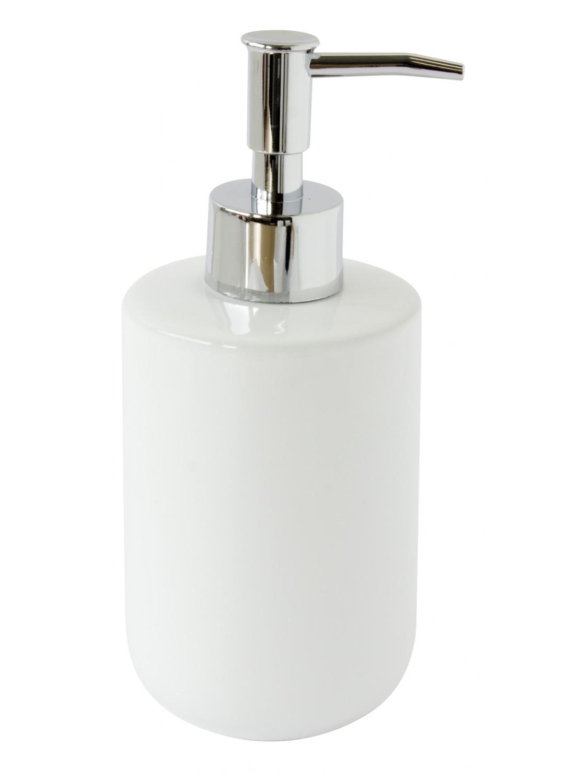 distributeur de savon blanc en c ramique blanc homebain vente en ligne distributeurs de savon. Black Bedroom Furniture Sets. Home Design Ideas