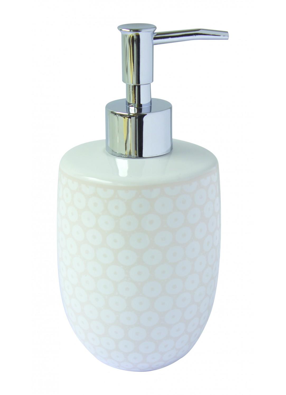 Distributeur de savon fantaisie en c ramique gr ge for Distributeur de savon ventouse
