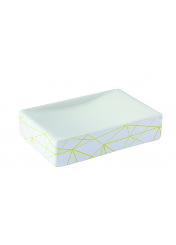 Porte Savon en Céramique Design (Blanc)