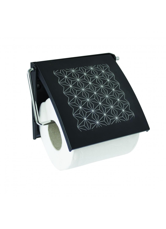 d rouleur wc spirit noir motifs graphiques noir homebain vente en ligne d rouleurs papier. Black Bedroom Furniture Sets. Home Design Ideas