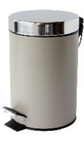 Poubelle Satin Taupe 3 Litres