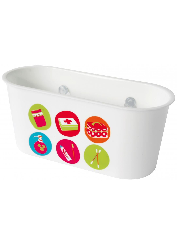 Panier a ventouses motifs accessoires de bain multi for Panier bain