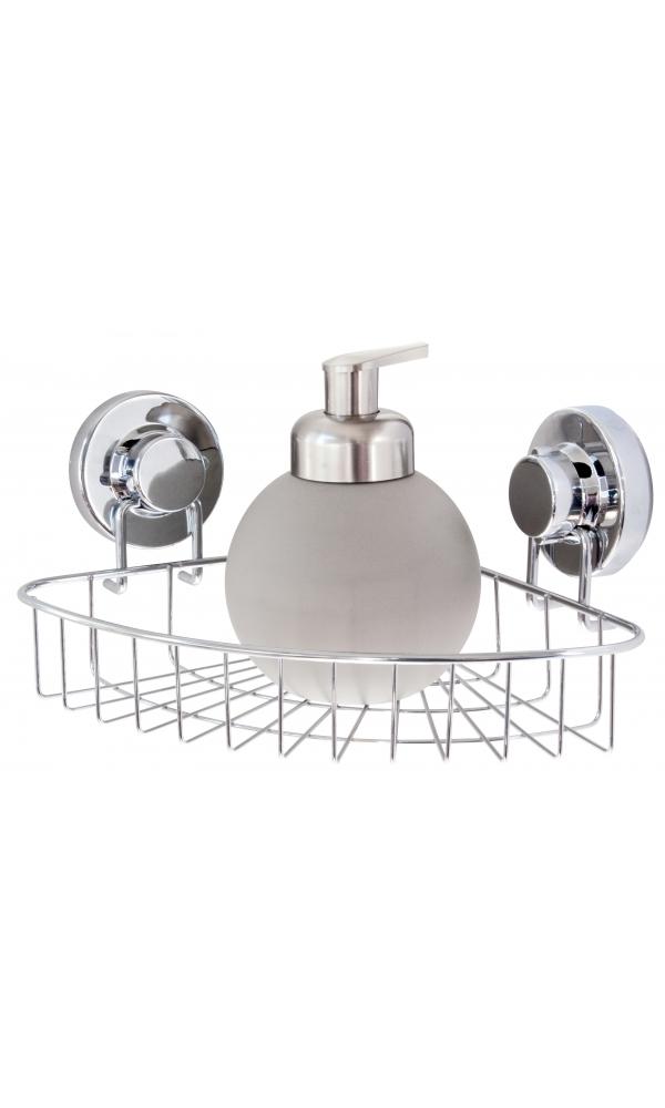Etagere angle basse fix chrome chrom homebain vente for Accessoires de douche a fixer