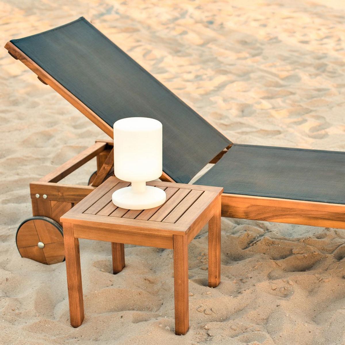 Table d'appoint d'extérieur en acacia - Naturel - 40.00 cm x 40.00 cm x 40.00 cm