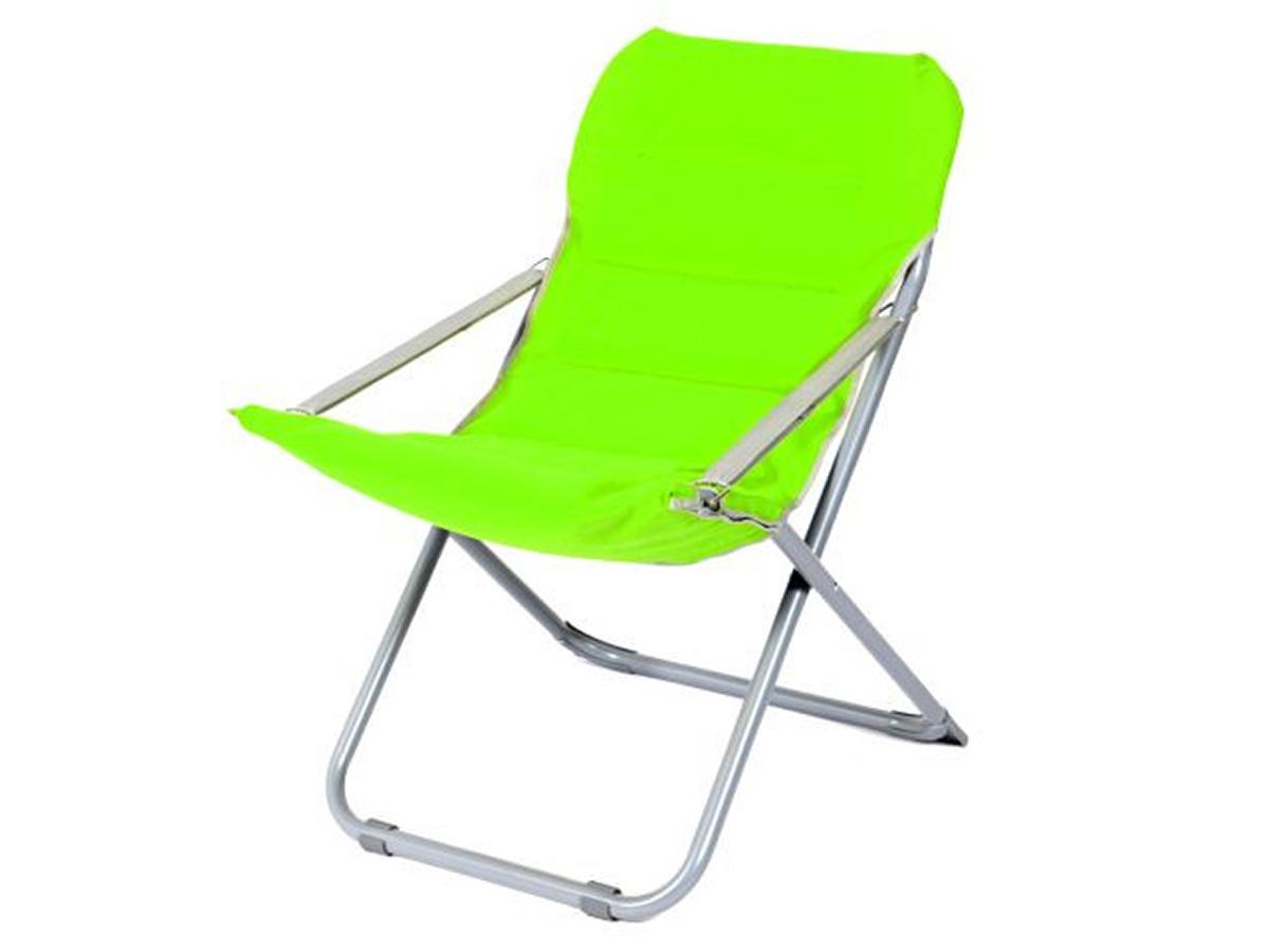Lot de 2 chaises pliables en toile de bâche - Vert/gris - 65.00 cm x 75.00 cm x 88.00 cm