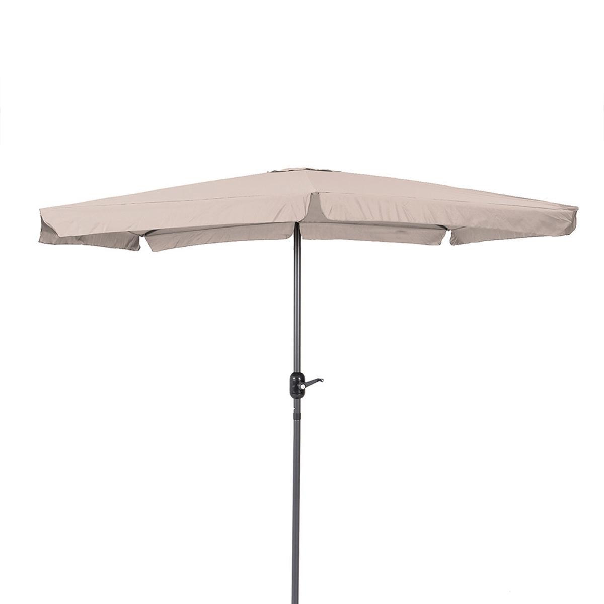 Parasol carré en aluminium - Beige - 250.00 cm x 250.00 cm