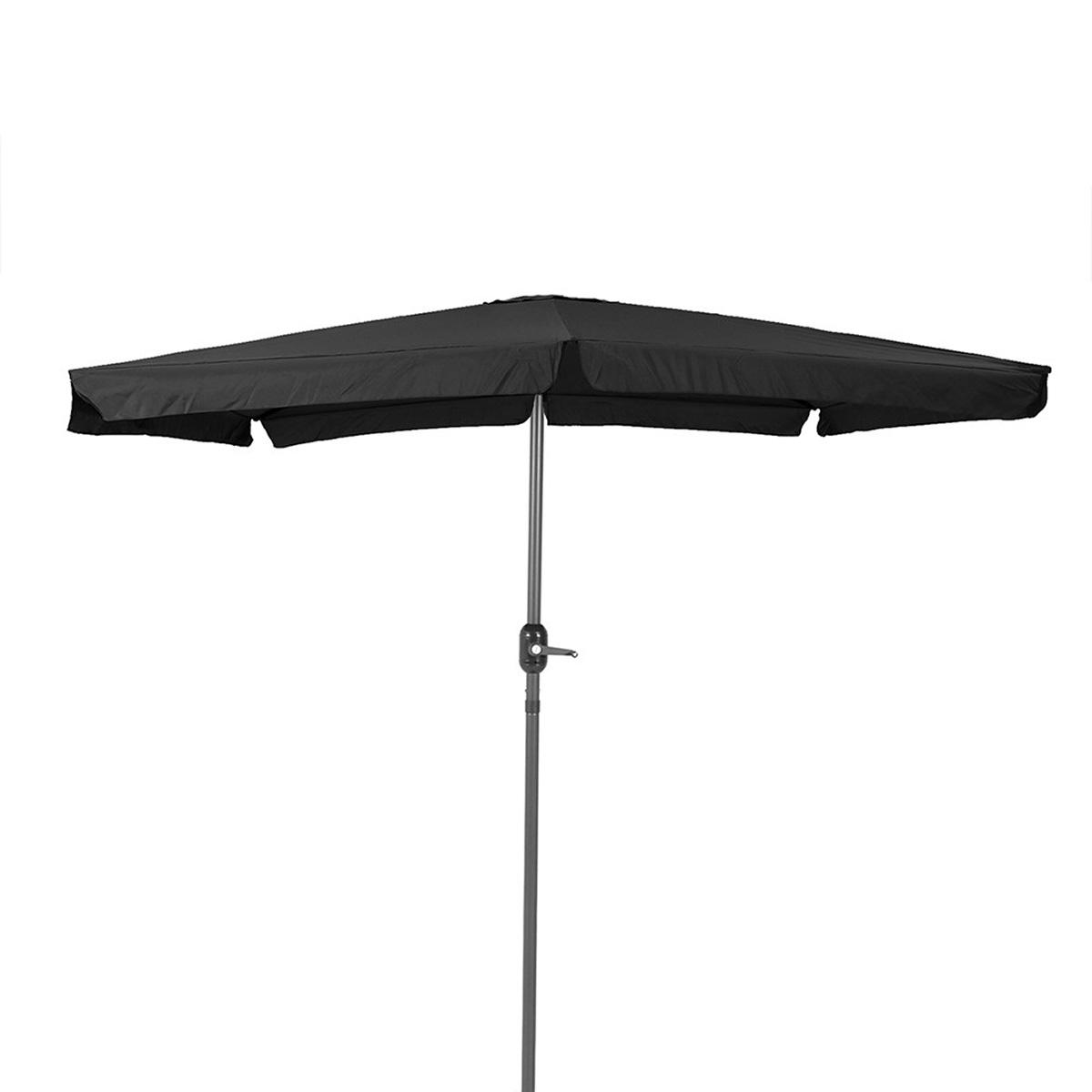 Parasol carré en aluminium - Gris - 250.00 cm x 250.00 cm