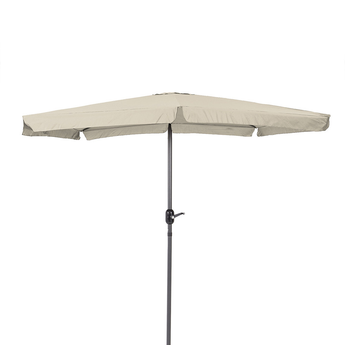 Parasol carré en aluminium - Naturel - 250.00 cm x 250.00 cm