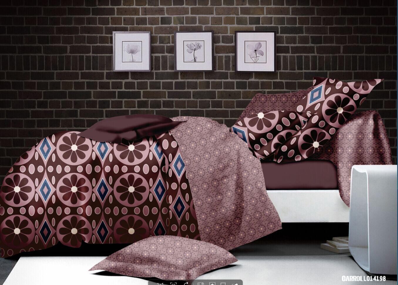 parure de lit esprit floral marron homemaison vente en ligne parures de lit. Black Bedroom Furniture Sets. Home Design Ideas