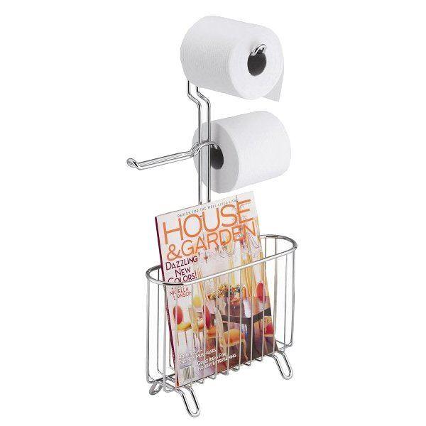 Porte magazines et papier classico homebain vente en for Porte papier wc sur pied