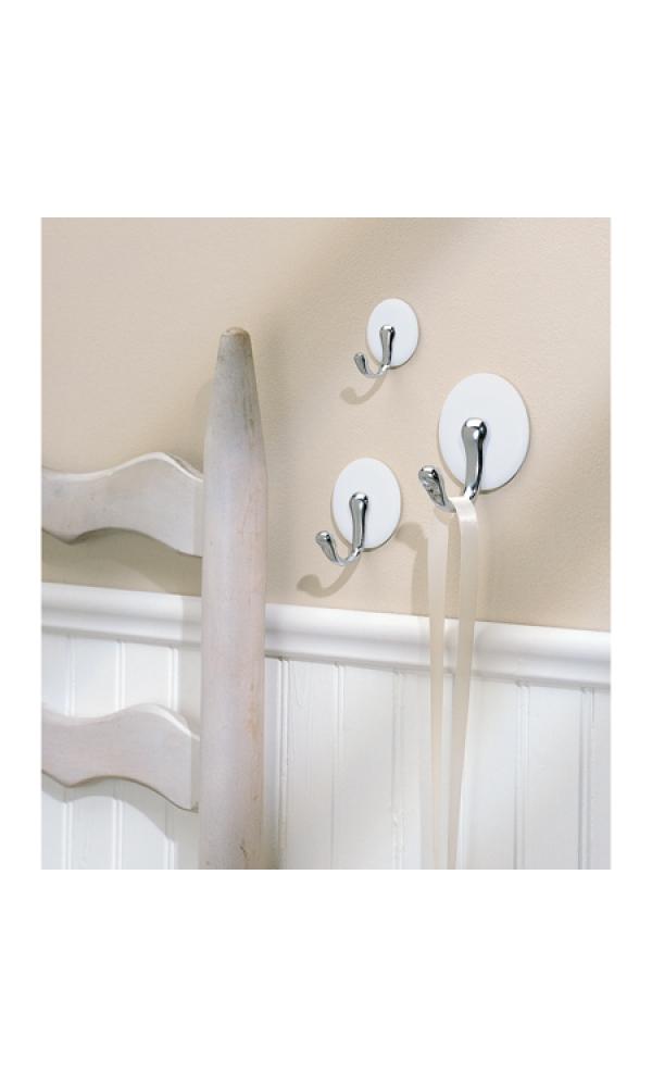 Crochets x3 blancs pour salle de bain - Home Bain
