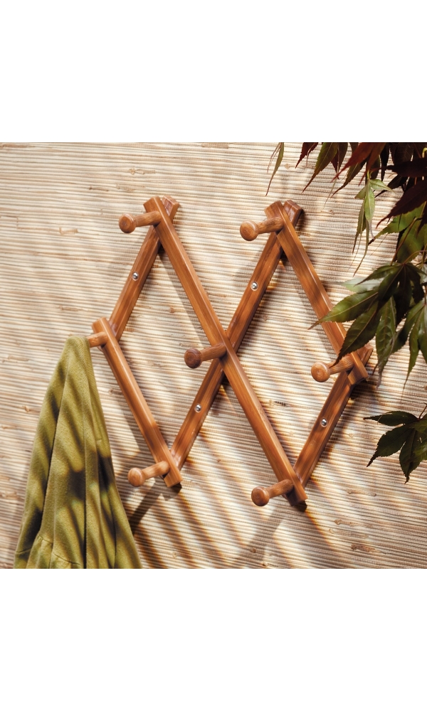 Porte serviette extensible en bambou - Home Bain