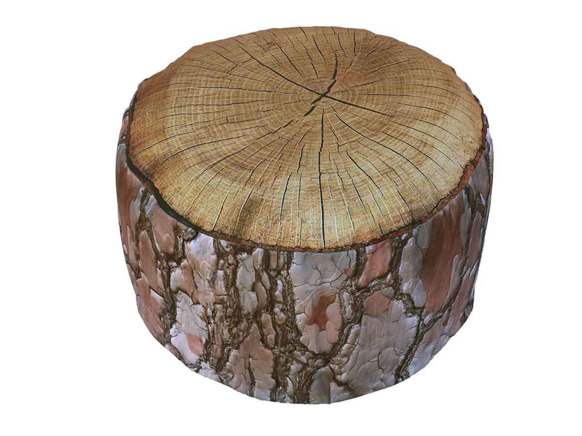 Pouf Bois - Marron - Ø58 x 32,5 cm