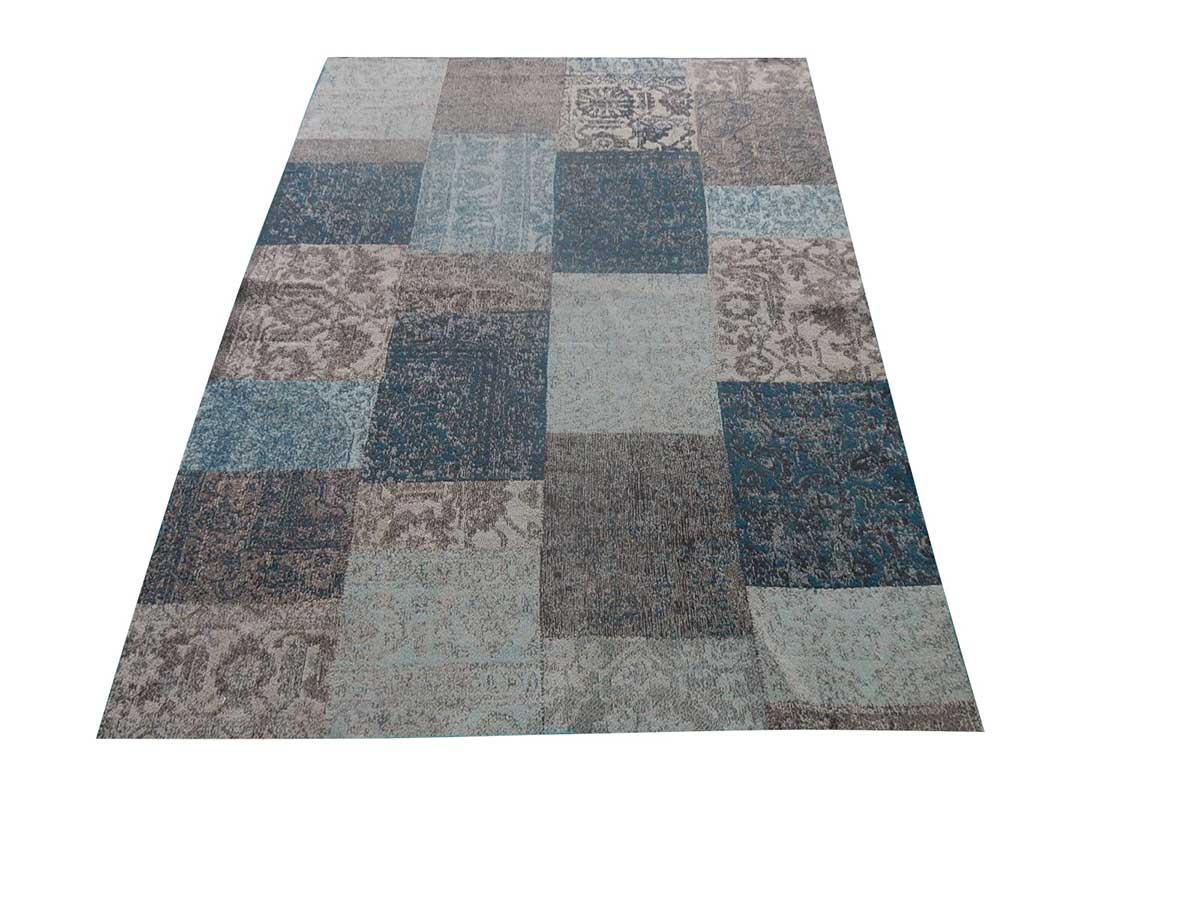 tapis d ext rieur effet patchwork bleu homemaison vente en ligne salons de jardin. Black Bedroom Furniture Sets. Home Design Ideas
