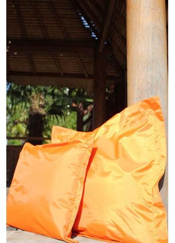 Lot de 2 Coussins Extérieurs - Orange - 65 x 65 x 7 cm